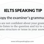 Copy the examiner's grammar