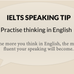 Practise thinking in English