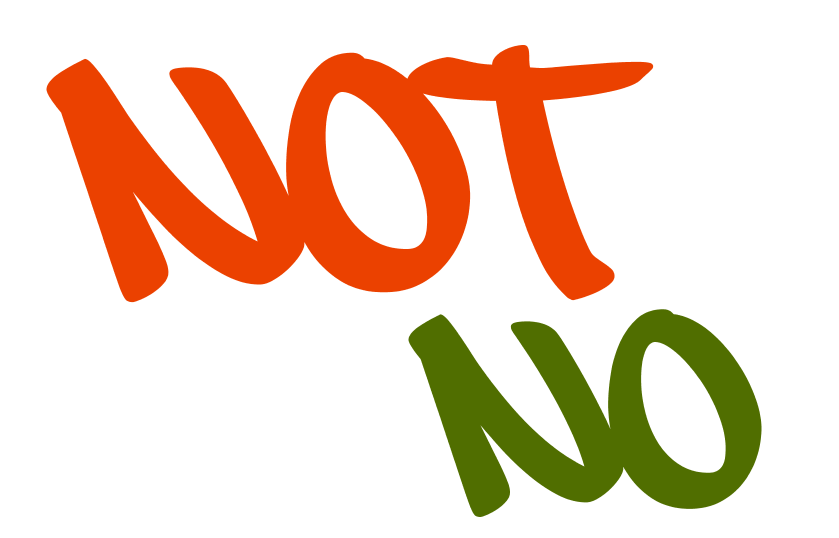 What is the difference between 'no' and 'not'?